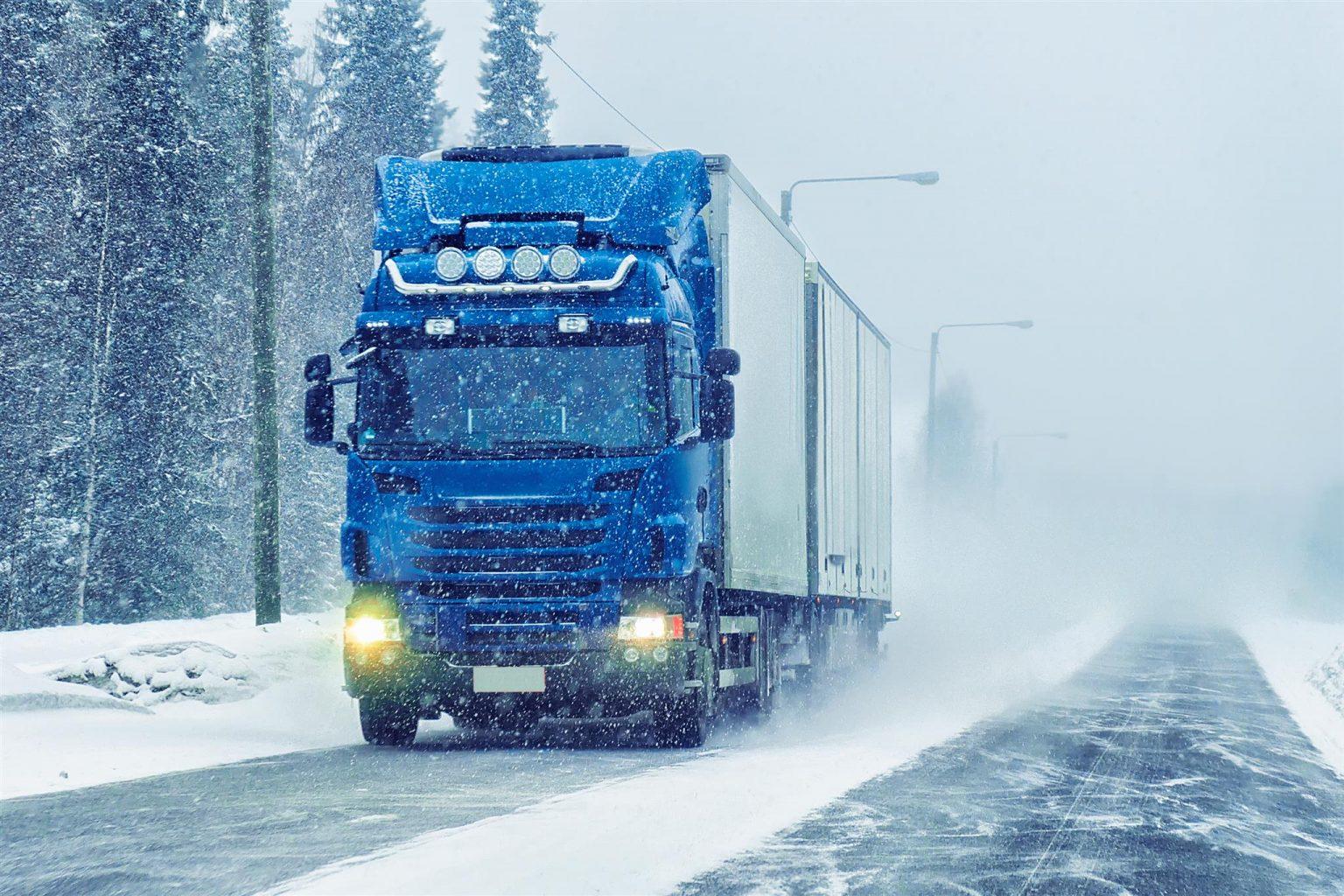Verkeersschool Paul Truck Vrachtauto Winter Winterbanden